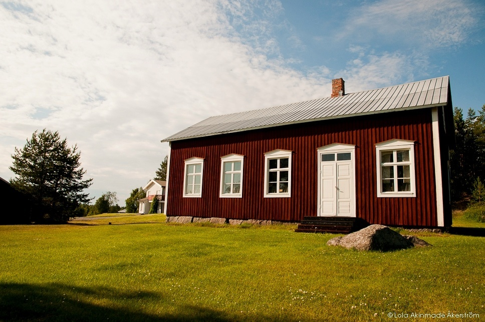Red Cottage, Falu Red in Northern Sweden - Photography by Lola Akinmade