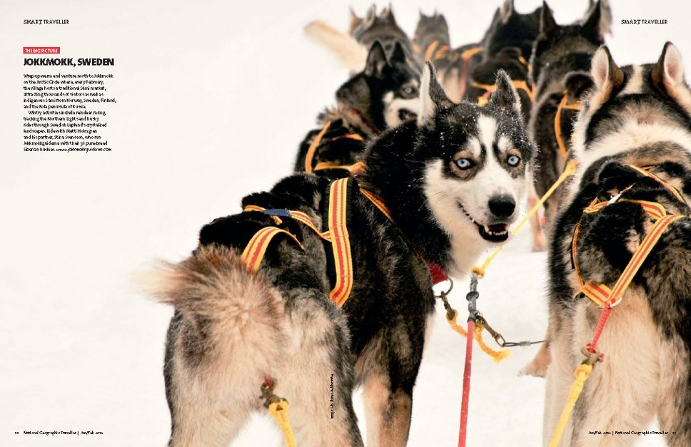 National Geographic Traveller UK - Huskies Photography by Lola Akinmade Åkerström