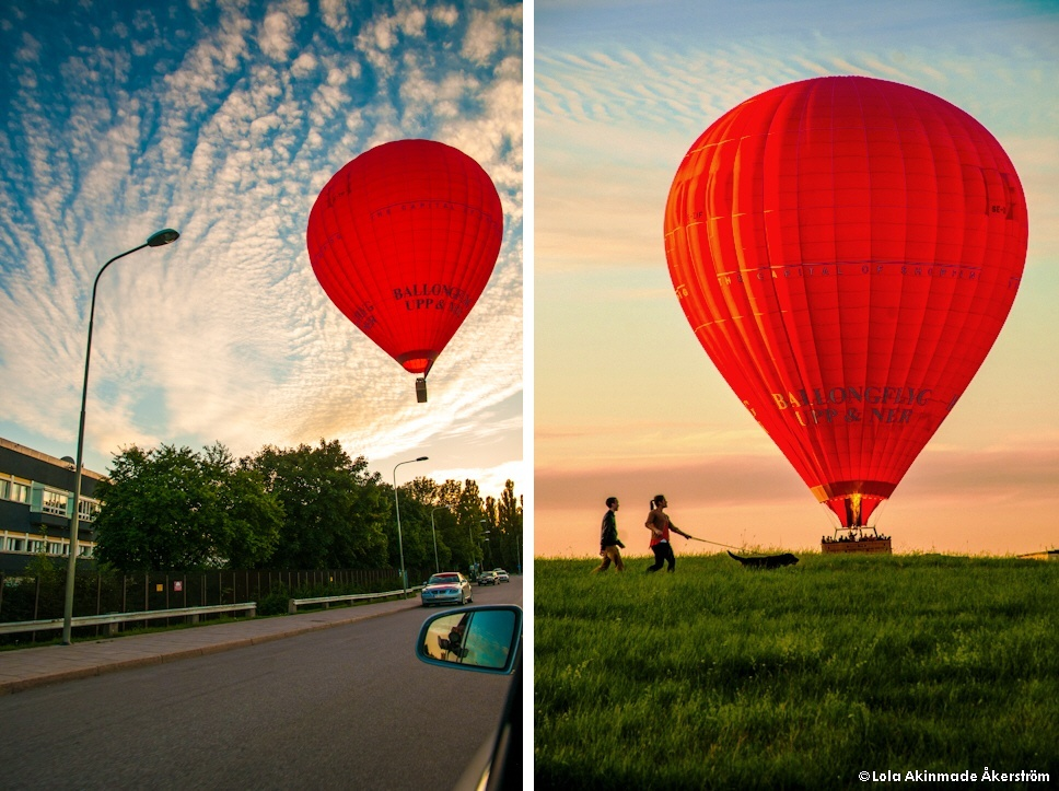 Hot air balloon photography by Lola Akinmade Akerstrom