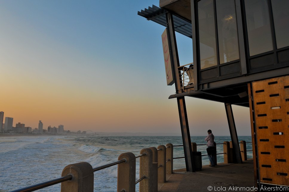 Durban beachfront at dusk, South Africa - Travel photography by Lola Akinmade Åkerström