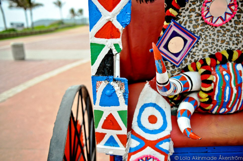 Rickshaws along the Golden Mile, Durban, South Africa - Travel Photography by Lola Akinmade Åkerström