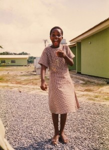 Me as a teenager in boarding school in Nigeria