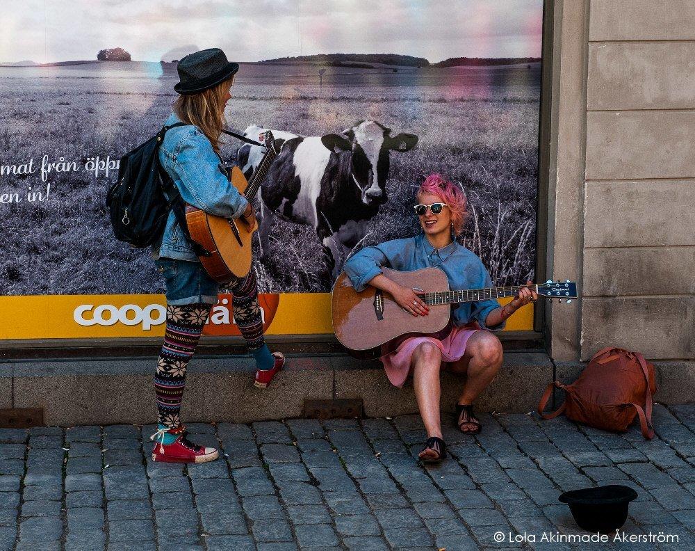 Street performers in Stockholm, Sweden