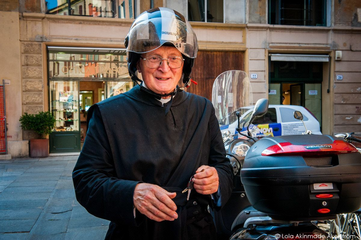 Priest in Modena, Italy
