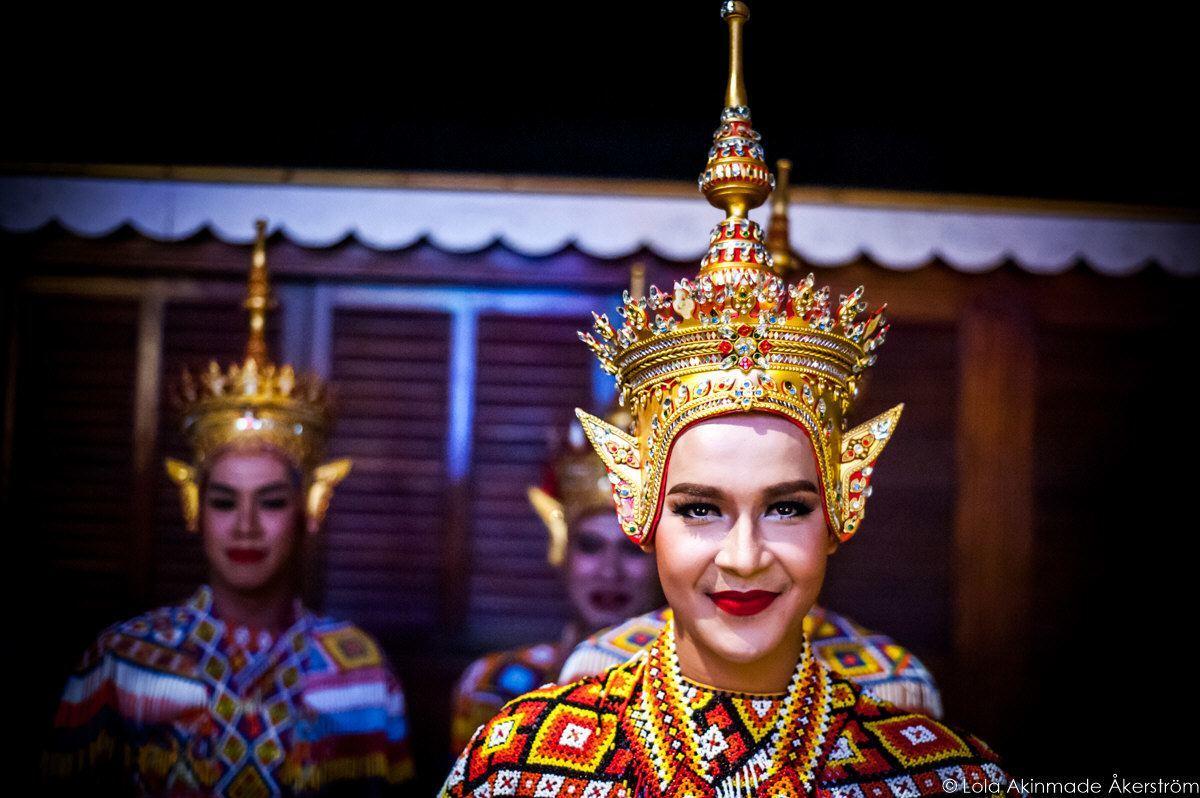 Thai Khon Dancers in Bangkok, Thailand