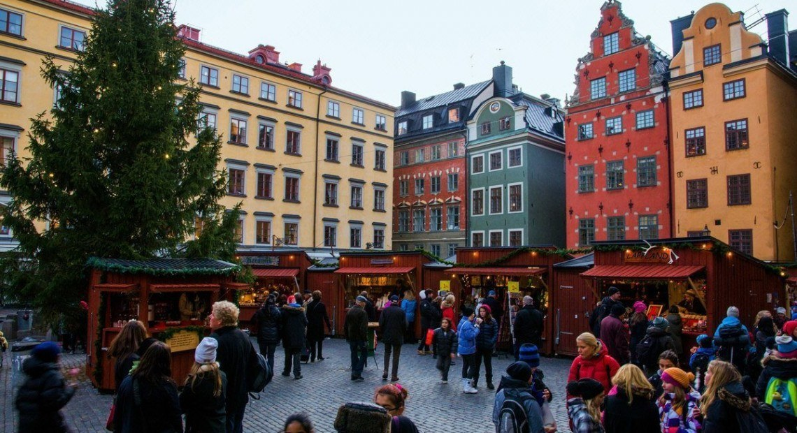 Postcard: Christmas markets in Stockholm #NaPhoPoMo