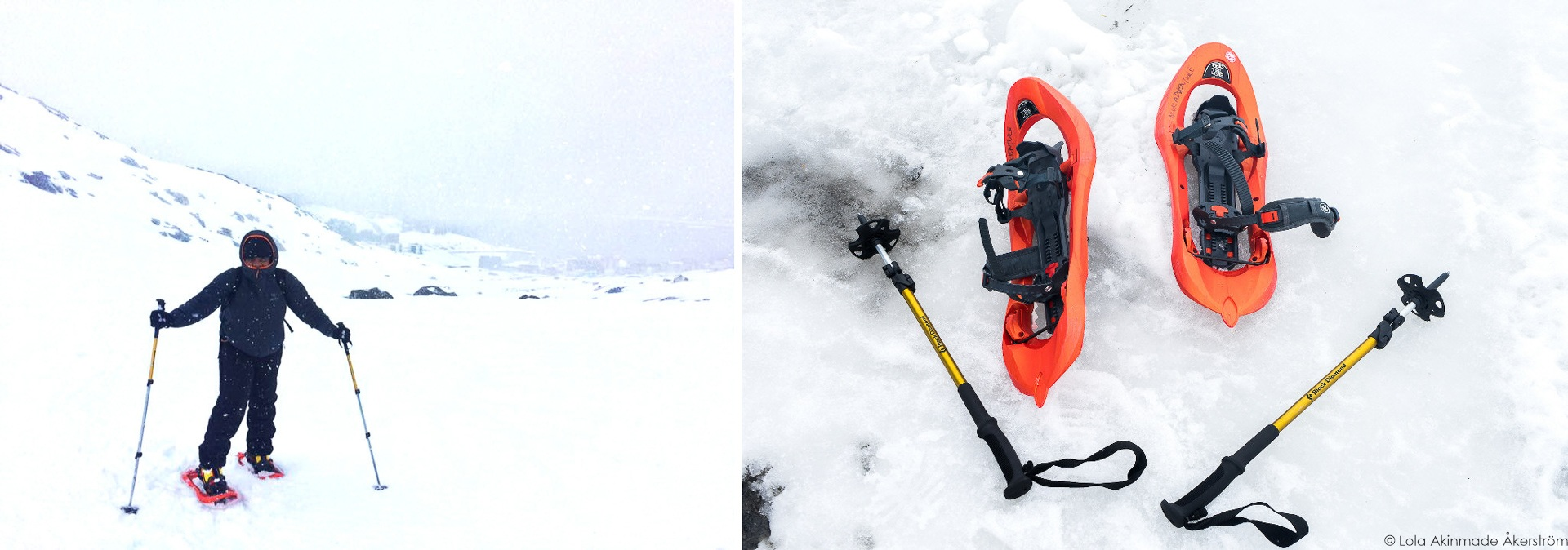 Snowshoeing in Greenland